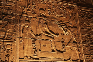 Egyptian hieroglyphs were believed to be sacred texts