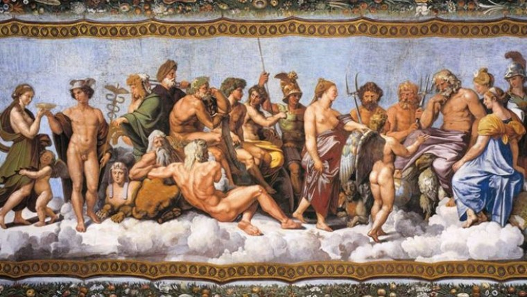The Greek gods lived in Mount Olympus and they were ruled by Zeus.