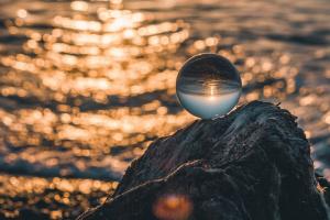Crystal ball: divination through crystal gazing