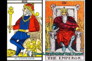 The Emperor (IV) represents power and authority.