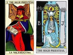 The High Priestess is the second Major Arcana tarot card.