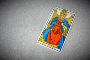 "Justice (VIII) is knwon as ""La Justice"" in the Tarot of Marseilles."
