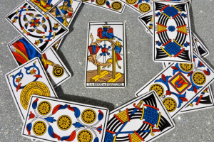 "The Wheel Of Fortune (X) is knwon as ""La Roue de Fortune"" in the Tarot of Marseilles."