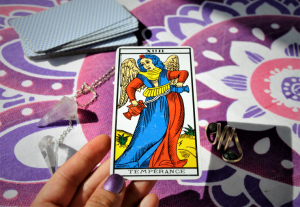 Temperance (XIV) is the first tarot angel of the deck.