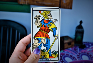The Fool card is considered either the first or the last card of the Tarot deck.
