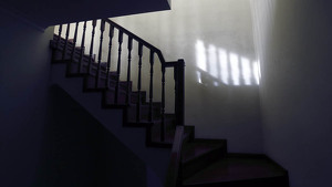 Dark stairs of a house