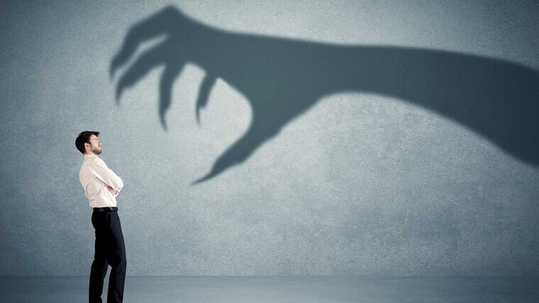 Devil attaking someone