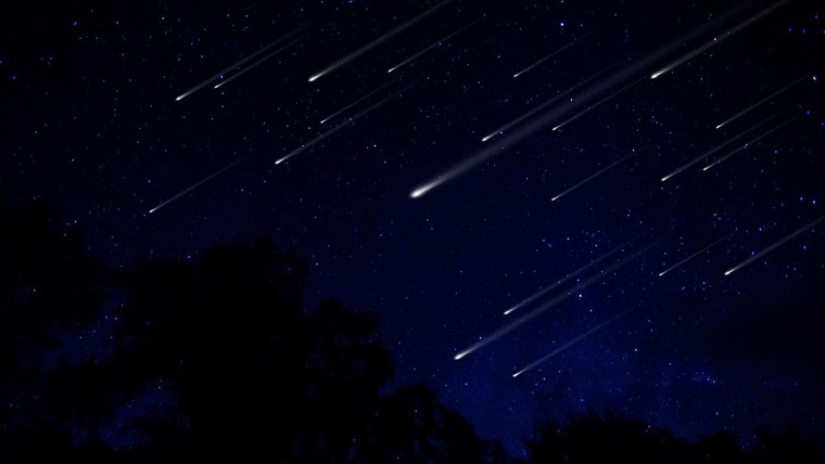 shooting star shower