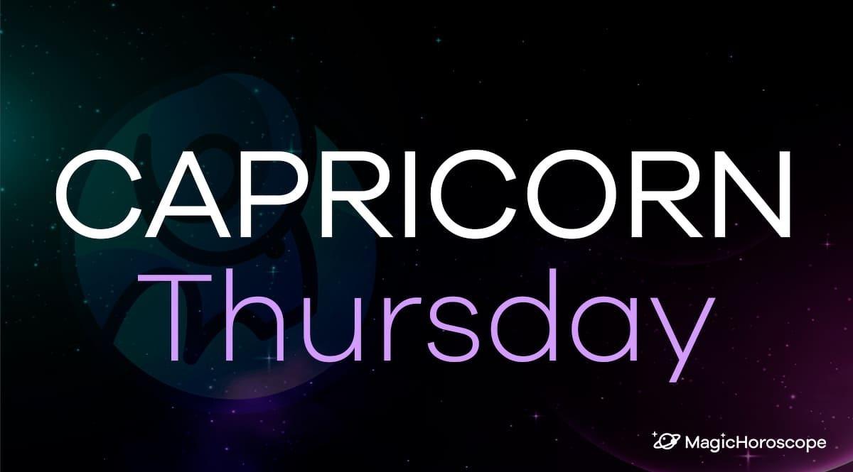Capricorn Horoscope Thursday