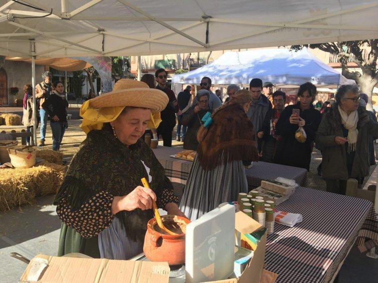 Francisca Ferrer amb la seva recepta va ser la guanyadora d'enguany
