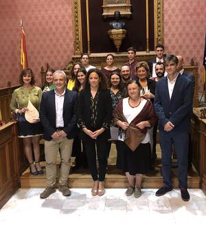 Autoritats del Govern i del Consell de Mallorca amb els guardonats