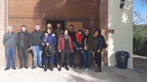 La delegació de l'Ajuntament de Santa Maria i dels vinaters que han viatjat a Masroig per iniciar l'agermanamant