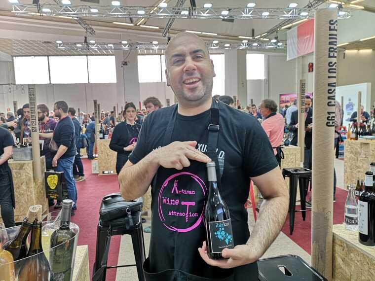 David Lorenzo d'Ibizkus ha estat l'únic representant del vi de fora de Mallorca