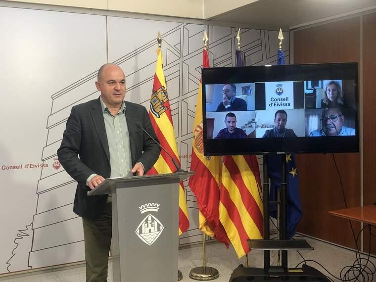 El president del Consell Insular d'Eivissa en una de les últimes compareixences públiques