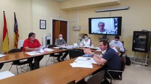Els representants de la Mesa del Vi en la primera reunió en la que es va constituir