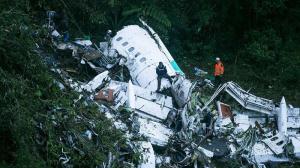 Imagen del avión accidentado.