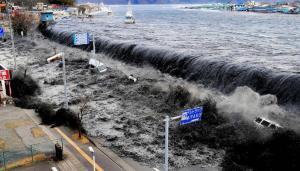 Tsunami en Japón en 2011.