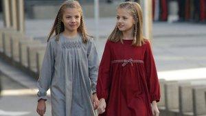 Las princesas, Leonor y Sofía.
