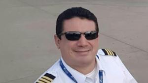 Piloto del avión que se accidentó en Colombia.