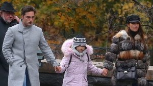 La pareja junto a su hija Daniella