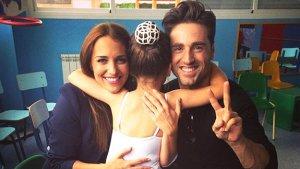 Paula Echevarría y David Bustamante con su hija Daniela