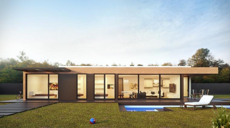 ltimas tcnicas actualmente se puede adquirir para vivir de forma permanente una vivienda modular compuesta por hormign