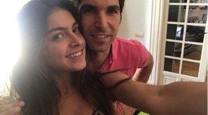 Lucía Rivera junto a su padre, Cayetano Rivera