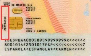 Este código alfanumérico identifica en qué comisaría se realizó el DNI