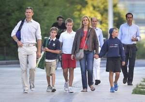 La familia de la infanta Cristina
