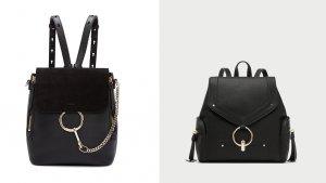 El bolso mochila de 1.500 euros de Chloé vz. el bolso de 25,95 euros de Zara