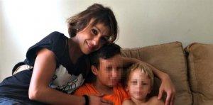 Juana Rivas junto a sus hijos