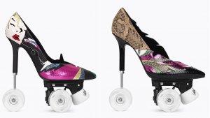 Los dos modelos de «'stilettos' con ruedas»  de Yves Saint Laurent