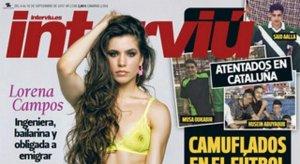 Lorena Campos en la portada de 'Interviú'