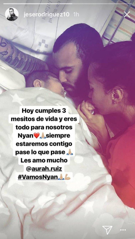 El mensaje de Jesé Rodríguez para su hijo de tres meses