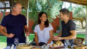 Bertín, su mujer y Pablo en el programa