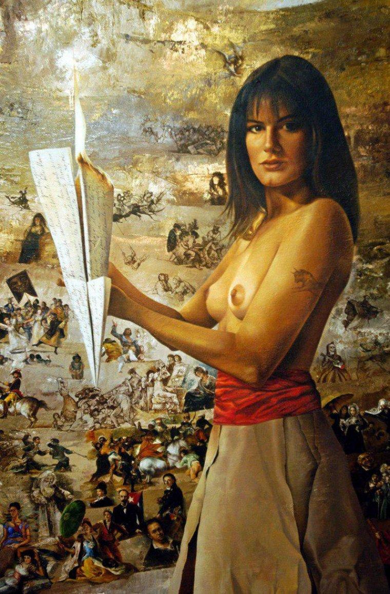 Imagen de Letizia semidesnuda utilizada en un disco de Maná