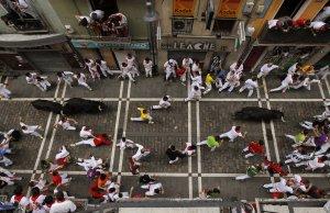 Imagen de archivo de un encierro de San Fermín