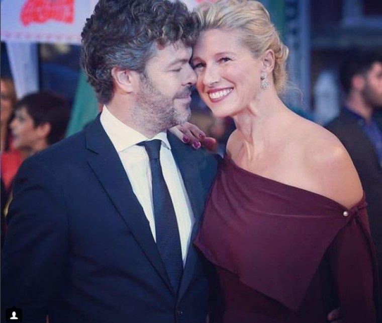 La presentadora, Anne Igartiburu, junto a su marido, Pablo Heras-Casado