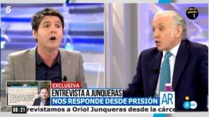 Jesús Cintora y Eduardo Inda durante el debate en 'El Programa de Ana Rosa'