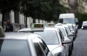 Imagen de archivo de taxis