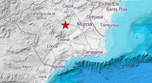 Imagen de la zona afectada por el terremoto.