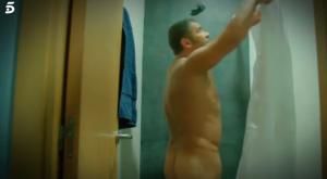 Jorge Javier Vázquez, desnudo en la ducha.