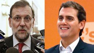 Montaje Mariano Rajoy y Albert Rivera
