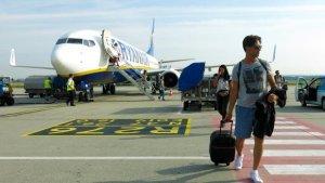 Pasajeros de un vuelo de Ryanair