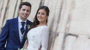 Antonio y Maje durante el día de su boda