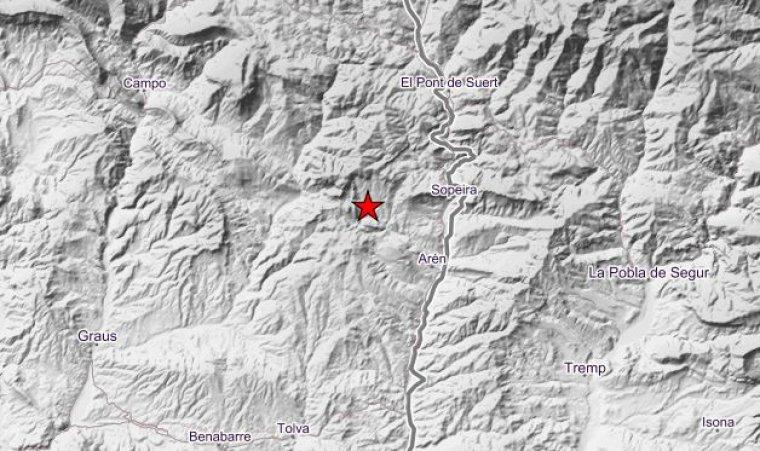 Imagen del epicentro del terremoto.