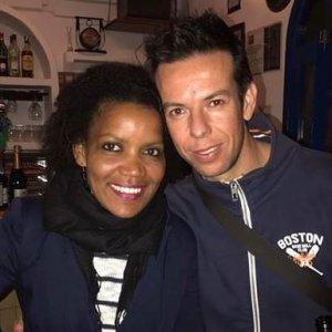 Ana Quezada con Ángel Cruz, el padre de Gabriel
