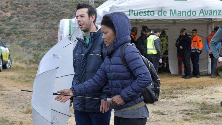 Ángel, el padre de Gabriel, con su pareja Ana Julia Quezada