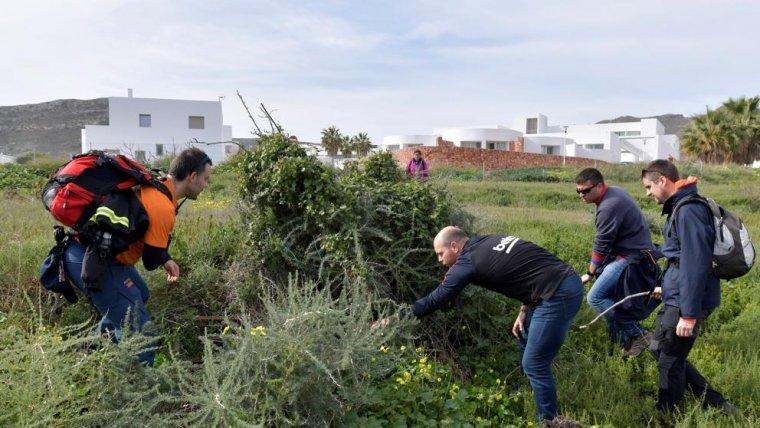 Voluntarios durante la búsqueda de Gabriel Cruz