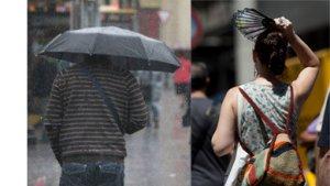 Calor y lluvias